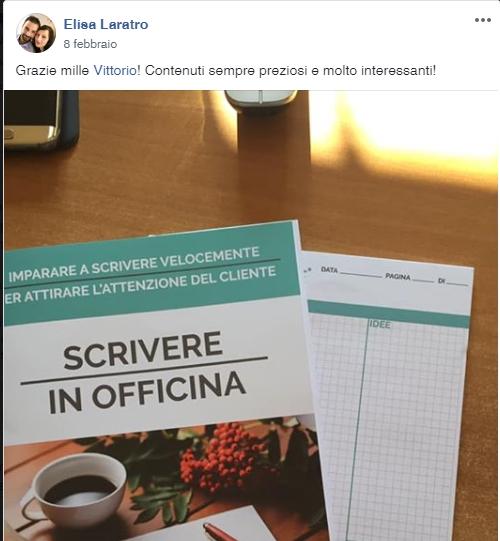 Elisa Laratro  x scrivere in officina